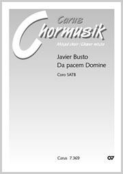 Javier Busto: Da pacem, Domine