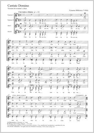 Vytautas Miskinis: Cantate Domino