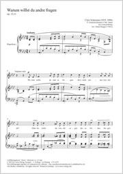 Clara Schumann (Wieck): Warum willst du and're fragen