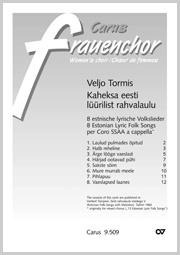 Tormis: 8 estnische lyrische Volkslieder