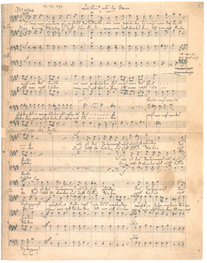 Mendelssohn: Vier Quartette für Männerchor (Faks)