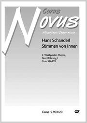 Hans Schanderl: 2. Waldgeister: Thema, Durchführung I