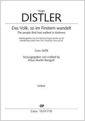 Hugo Distler: Das Volk, so im Finstern wandelt