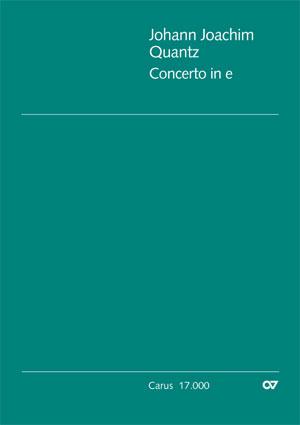Johann Joachim Quantz: Concerto pour flûte en mi mineur