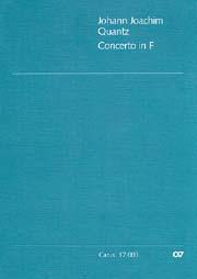 Johann Joachim Quantz: Concerto pour flûte en fa majeur