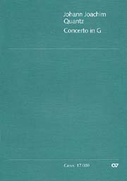 Johann Joachim Quantz: Concerto pour flûte en sol majeur