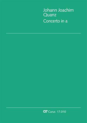 Johann Joachim Quantz: Concerto pour flûte en la mineur