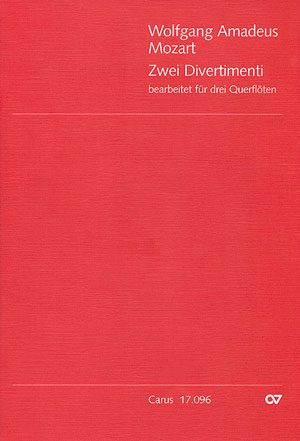Mozart: Zwei Divertimenti für 3 Querflöten