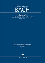 Johann Sebastian Bach: Chaconne