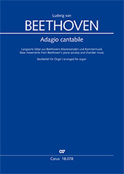 Beethoven: Adagio cantabile. Slow movements from Beethoven's piano sonatas and chamber music in arrangements for organ