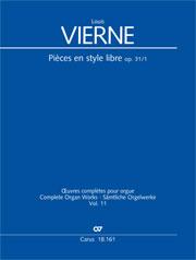 Louis Vierne: Pièces en style libre I