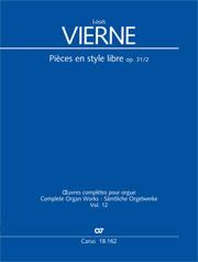 Louis Vierne: Pièces en style libre II