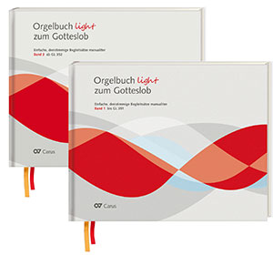 Orgelbuch light zum Gotteslob. Leichte dreistimmige Orgel-Begleitsätze manualiter. 2 Bände