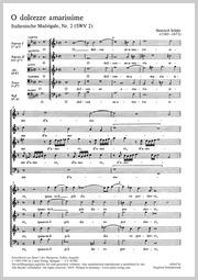 Heinrich Schütz: O most bitter sweetnesses of love