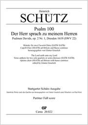 Heinrich Schütz: Der Herr sprach zu meinem Herren