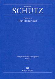 Heinrich Schütz: Das ist mir lieb