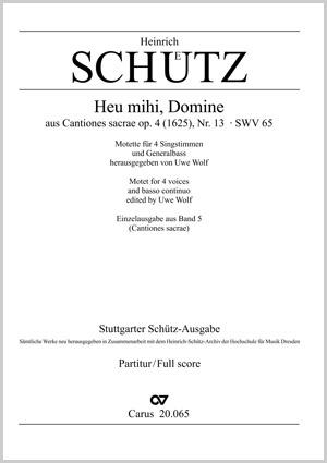 Heinrich Schütz: Heu mihi, Domine