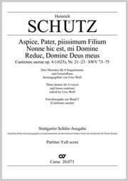 Schütz: Aspice Pater piissimum Filium; Nonne hic est mi Domine; Reduc Domine Deus meus