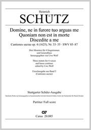 Schütz: Domine, ne in furore tuo arguas me; Quoniam non est in morte; Discedite a me omnes