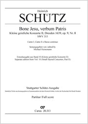 Heinrich Schütz: Bone Jesu, verbum Patris