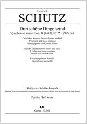 Heinrich Schütz: Drei schöne Dinge seind