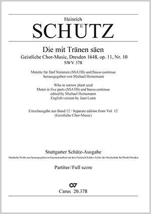 Heinrich Schütz: Die mit Tränen säen