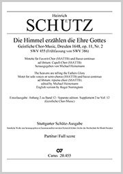 Heinrich Schütz: The heavens are telling the father's glory