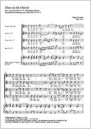Heinrich Schütz: Glory be to Jesus