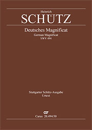 """Heinrich Schütz: German Magnificat.  """"Meine Seele erhebt den Herrn"""""""