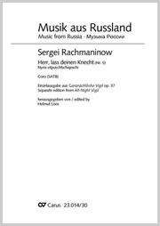 Sergei Rachmaninow: Herr, lass deinen Knecht