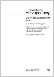 Heinrich von Herzogenberg: Kommt her zu mir, spricht Gottes Sohn