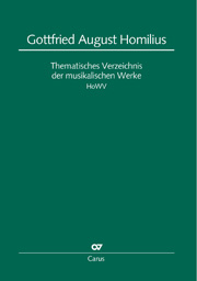 Uwe Wolf: Gottfried August Homilius. Thematic catalog of musical works (HoWV)