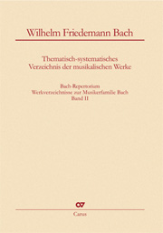 Wilhelm Friedemann Bach: Thematisch-systematisches Verzeichnis der musikalischen Werke