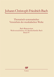 Johann Christoph Friedrich Bach: Thematic-systematic Catalog of the Musical Works
