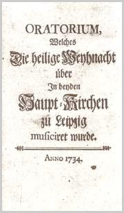 Johann Sebastian Bach: Oratorio de Noël