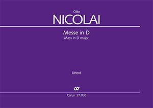 Otto Nicolai Messe Nr 1 In D Partitur Carus Verlag