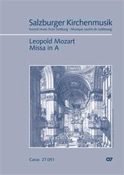 Leopold Mozart: Missa in A