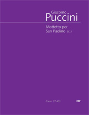 Giacomo Puccini: Mottetto per San Paolino