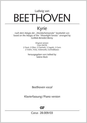 """Beethoven: Kyrie nach dem Adagio der """"Mondscheinsonate"""". Fassung für Chor und Klavier"""
