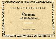 Bornefeld: Kanons nach Kinderliedern