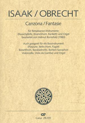Isaak/Obrecht: Canzona/Fantasie Partitur | Carus-Verlag