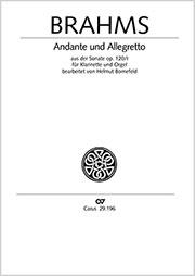 Johannes Brahms: Andante und Allegretto
