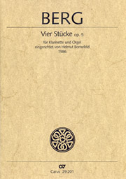 Alban Berg: Vier Stücke für Klarinette und Klavier