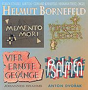 Bornefeld: Vier ernste Gesänge (Brahms), Memento Mori, Psalmen (Dvorak), Hirtenlieder