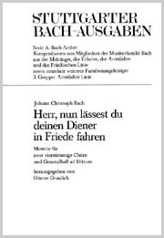 Johann Christoph Bach: Herr, nun lässest du deinen Diener