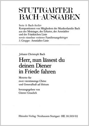 Johann Christoph Bach: Lord, now lettest thou thy servant depart
