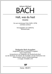 Johann Michael Bach: Keep what you have