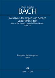 Johann Sebastian Bach: Gleichwie der Regen und Schnee vom Himmel fällt
