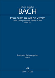 Johann Sebastian Bach: Jesus calling then the Twelve to him
