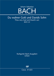 Johann Sebastian Bach: Du wahrer Gott und Davids Sohn (3ère version)